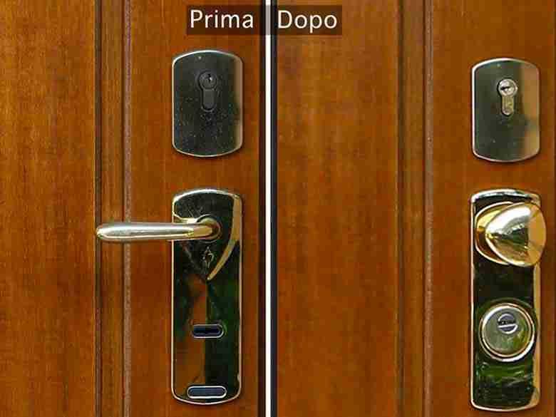 Sostituzione serratura porta blindata
