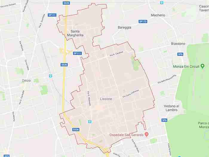 mappa lissone mb