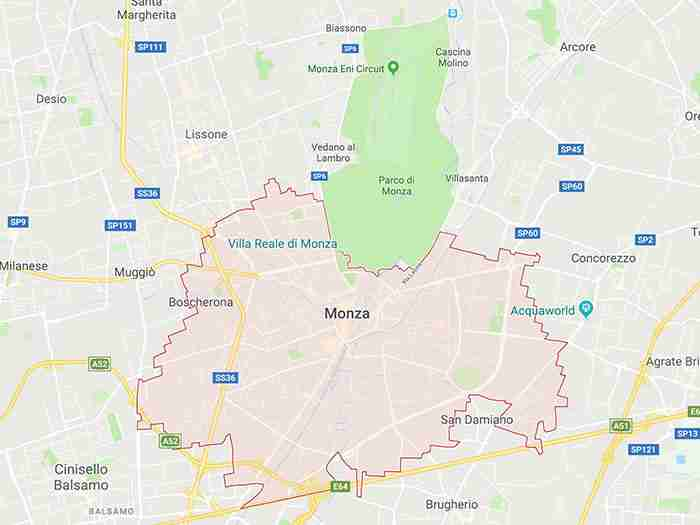 mappa monza mb