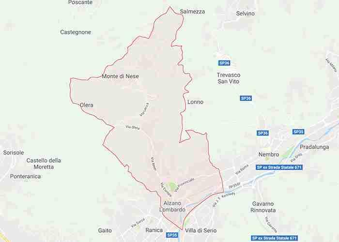 mappa alzano lombardo bg