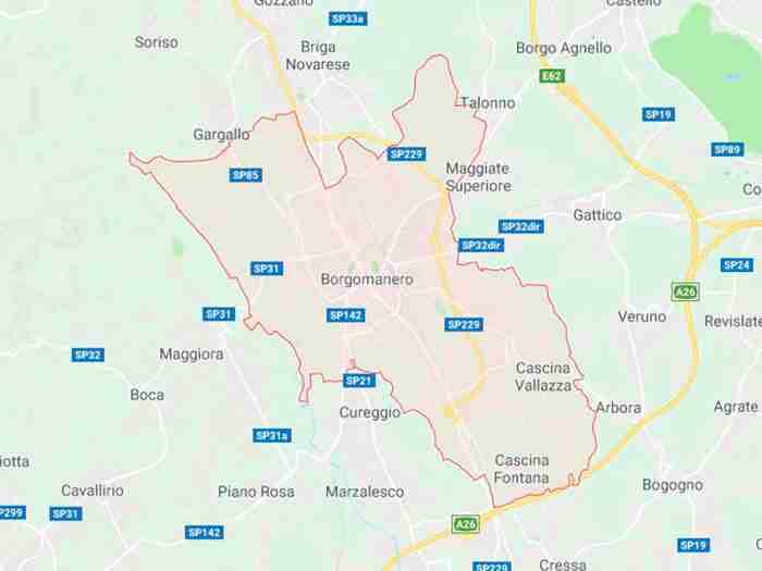 Borgomanero provincia Novara