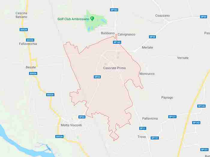 Casorate primo pronivcia Pavia
