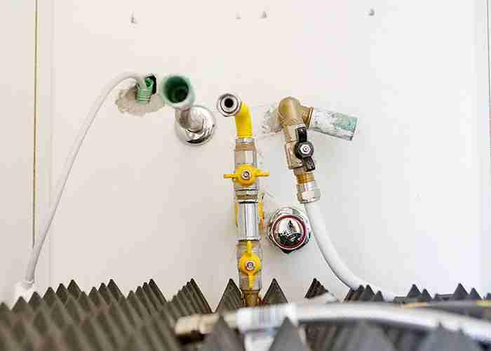 Preparazione allacci idraulici